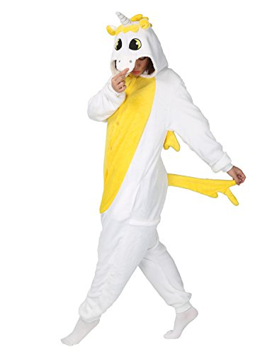 Adult Onesie Animal Unicorn Pajamas Sleepwear Kigurumi Cosplay Halloween Costume (M (Height 161-170 CM), (Anime Costume Ideas For Girls)