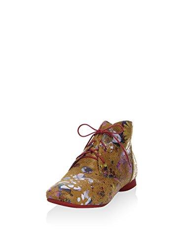 Think Think Guad 6-86297-54 - Botines de cordones Mujer Camel / Multicolor