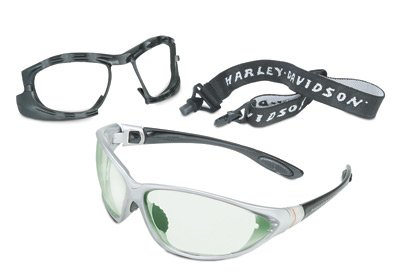 Uvex by Sperian Harley-Davidson HD1300 Series Safety Glasses With Silver Indoor/Outdoor Mirror Lens by Honeywell