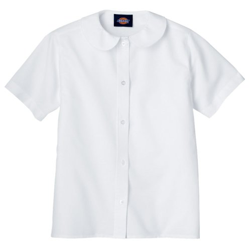 Dickies KS914 Girls Collar Blouse WHITE