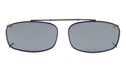 Eyekepper Metal Frame Rim Polarized Lens Clip On Sunglasses 2
