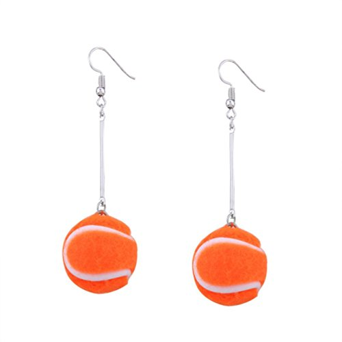 Fashion Earrings, UMFun 1 Pair Women Tennis Basketball Ball Ear Studs Dangle Earrings Jewelry Gift (D) Ear Lace Dangling Chains