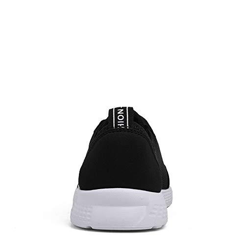 Nero Sneakers da Cricket da Stile Donna e Uomo Mesh Athletic superficiali da Scarpe Casual Corsa da in Traspirante Scarpe UUx5rTS