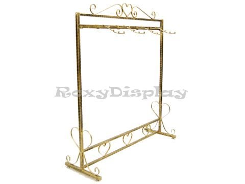(TY-JL023) Antique Boutique Style Garment Rack, 1 Hanging Bar w/ 4 hooks by Roxy Display