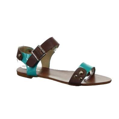 Kickly-Scarpe sportive donna Sandale Claquettes caviglia chiodata tallone CM-1-%2FOr sintetica per interni, colore: verde
