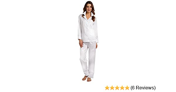 26acb55821b3 Elizabeth Cotton Women s Egyptian Cotton Pajamas XL White at Amazon Women s  Clothing store