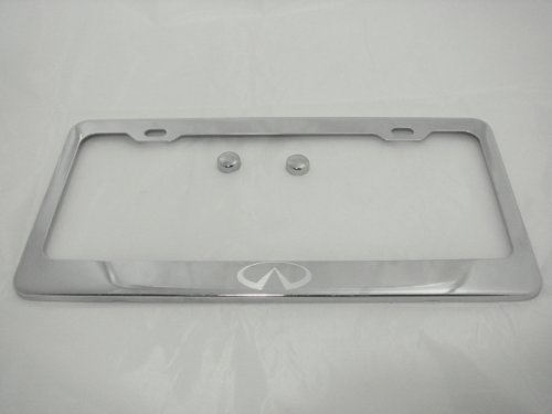 Infiniti Chrome License Plate Frame w/Caps, used for sale  Delivered anywhere in Canada