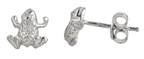Decadence Unisex Adult Sse489 Sterling Silver Frog Stud Earrings, One ()