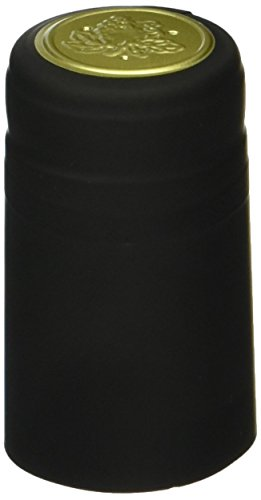 30 Black PVC Shrink Capsules (Black Wine Bottle)