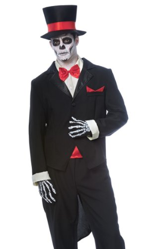 [Day of the Dead Groom Costume - Standard - Chest Size 42-46] (Dead Groom Costume)