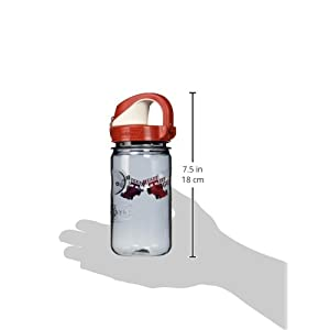 Nalgene Kids Race Car OTF Bottle, 12 oz, Gray/Red