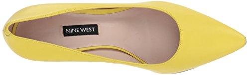 Nine West Women's Emmala Leather Pump Yellow hnj6a6M7