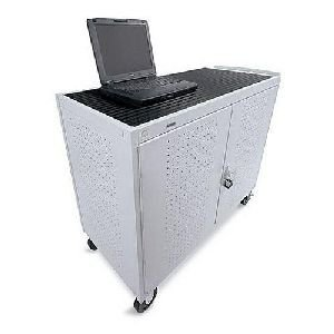 18-Compartment Laptop Storage and Charging Cart Outlet Position: Rear, Caster Size: - Laptop Computer Storage Cart Bretford