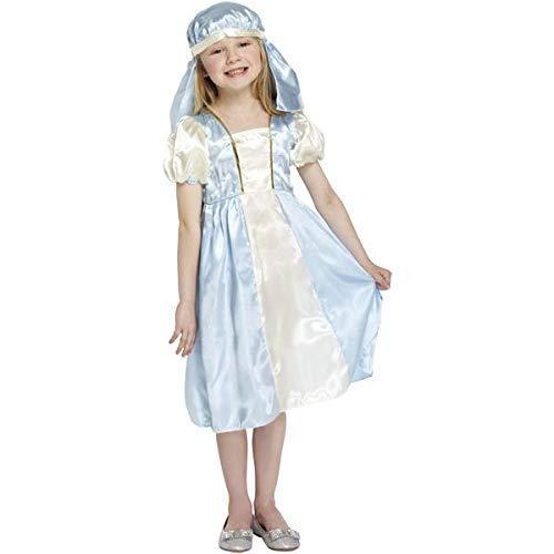 Disfraz Virgen Maria Navidad Talla 7-9 años: Amazon.es: Juguetes y ...
