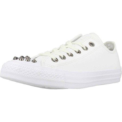 CONVERSE Sport Scarpe per Le Donne, Color Bianco, Marca, modelo Sport Scarpe per Le Donne Chuck Taylor All Star - Ox Bianco
