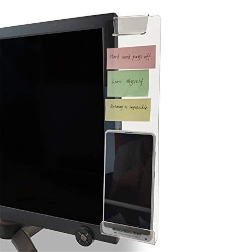 MINSA Fashion Multifunction Utility Acrylic Transparent Computer Monitors Side Panel/Memo Pads/Message Boards/Sticky…