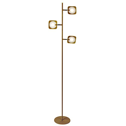Swing Antique Brass Arm Halogen (Brightech Tree Spotlight LED Floor Lamp - Very Bright Reading, Craft and Makeup 3 Light Standing Pole - Modern Dimmable & Adjustable Panels, Minimal Space Use - Antique Brass)