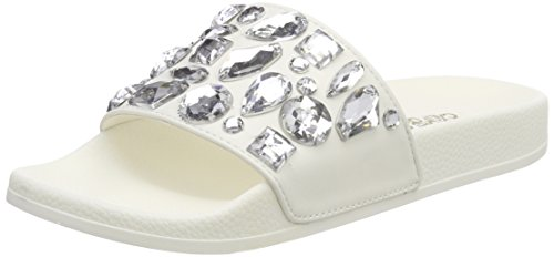 Colors With Ouvert California Femme Eva Bout Plastic Slipper white Stones Weiß Of Sandales wqUFawT