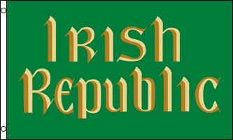 IRISH REPUBLIC FLAG, 3'x5' Ireland banner