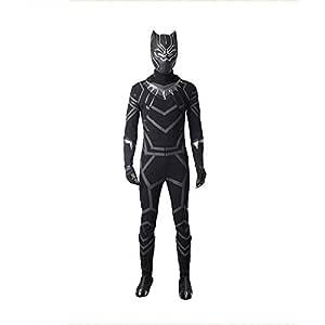 WEGCJU Nuevo Adulto Niños Black Panther Traje De Halloween ...