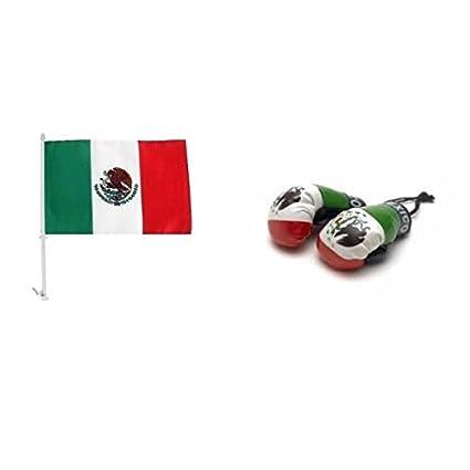 Amazon.com : Mexico Car Flag & Mini Boxing Gloves Combo Pack ...