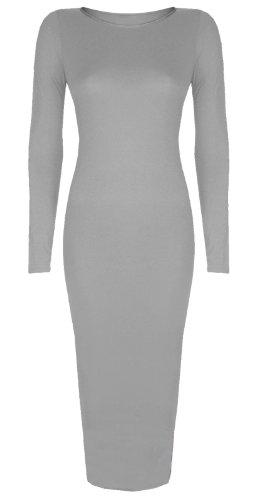 Vestido con faja, de manga larga, Talla 8–�?6 gris