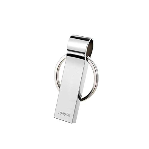 🥇 Dorypal Memoria USB 1TB Pendrive 1000GB USB 3.0 Impermeable Flash Drives Metal de USB Sticks Impermeable Memory Stick para Computadoras