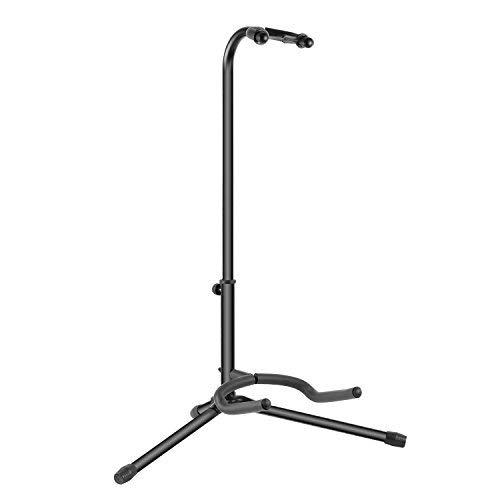 (Neewer Adjustable Tripod Guitar Stand Single Stand for Music Bands Schools Artists, Audio Stage, Studio Display, Durable Metal Structure and Plastic Padded (Black))