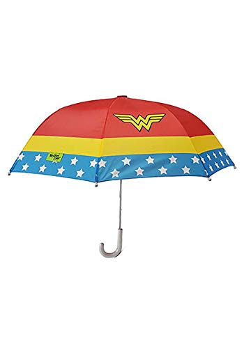 Western Chief Apparel Girls' Little Wonder Woman Umbrella, red, One ()