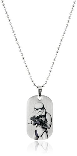 Star Wars Jewelry Boys' Rebel Stormtrooper Dog Tag Chain Pendant Necklace, 16