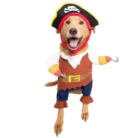 Pet Krewe PK00104XL Pirate Pet Costume with Arms & Hat, X-Large ()
