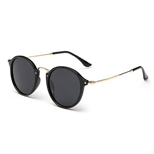 LOMEDO Fashion Round Classic Sunglasses for Womens Flash Mirrored Lenses - Kourtney Style Kardashian