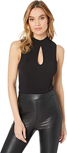 BCBGeneration Women's Front Keyhole Sleeveless Knit Bodysuit Black X-Small