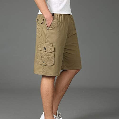 Lvguang Pantalones Cortos para Hombres sin Cintur/ón Cargo Shorts Bermudas del Cintura El/ástica Tama/ño Grande