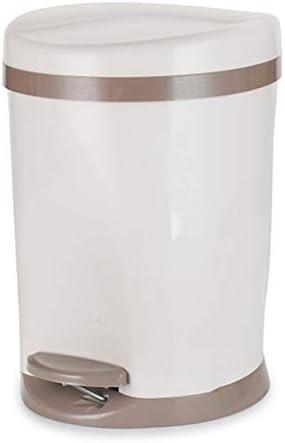 シンプルなペダルのゴミ箱樽型の蓋付き家庭用プラスチック製オフィスバケツ 2020 新作  サイズ:25.5X32.5cm 再販ご予約限定送料無料