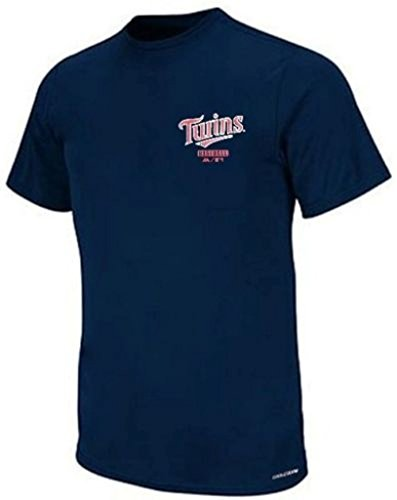 Majestic Minnesota Twins Cool Base Mens Navy Crewneck Shirt Big & Tall Sizes (4XL)
