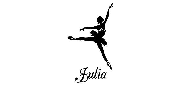 Ballet bailarinas Julia nombre letras para niños habitación adhesivo decorativo para pared vinilo adhesivo: Amazon.es: Hogar