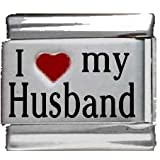 I Heart My Husband Red Heart Laser Italian Charm