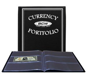 BCW - Currency Portfolio - (Dollar Bill Combo Storage Album) - Currency and Coin Collecting Supplies