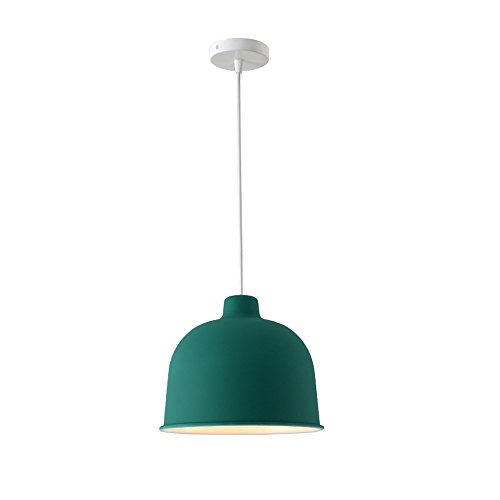 Northern Europe Modern Adjustable Fish Line Iron Art Chandelier Simple Creativity Single Head Pendant Lamp Living Room Bedroom Aisle Theme Ceiling Light (Color : Green 40) -