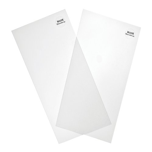 Mask Sheets by Tim Holtz Idea-ology, 2 Mask Sheets and 2 Storage sheets per Pack, Plain, 6 x 12 Inches, Plastic, (Masks Ideas)