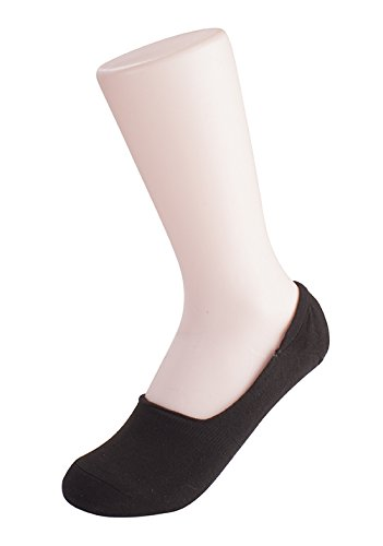 Charles Albert Womens Performance Sport No-show Liner Socks - 6 Pack In Bianco E Nero