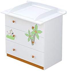 Polini Kids 1187-1 - Cambiador para bebé, color blanco y naranja