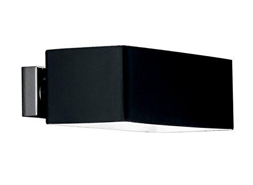 Ideal lux box ap nero applique lampada da parete nera luc