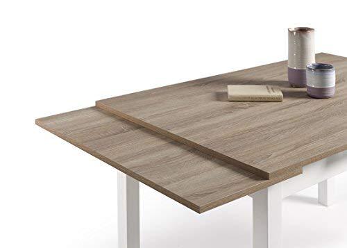 HOGAR24- Mesa Multiusos Comedor Cocina Dimensiones 120 cm x 80 cm Extensible Libro a 190 cm x 80 cm Color Roble Cambrian y Blanco: Amazon.es: Juguetes y ...