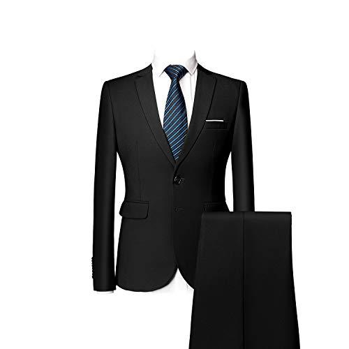 Costume Elegant Mogu Couleurs Veste Banquet Pantalon Deux Bouton 10 Noir Homme 00U6gq1