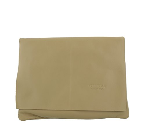 Taupe Clutch Genuine V302 Shoulder Leather Soft Bag Soft Leather amp; Clutch Genuine FRZxqF