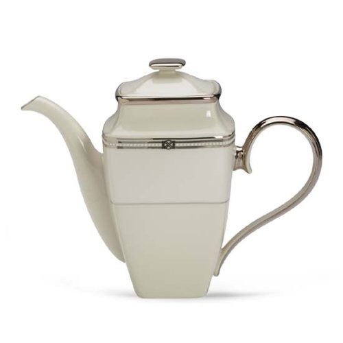 Pot Banded Coffee Platinum (Lenox Engagement Platinum Banded Ivory China Coffeepot)