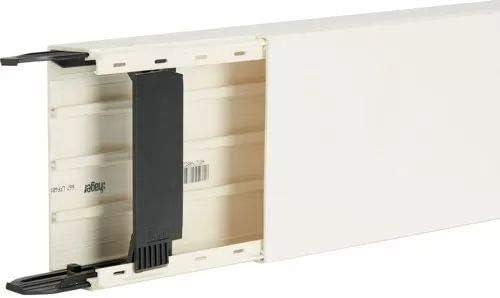 LF/ Hager tehalit /Canal lF avec 2/compartiment 40/x 110/Blanc neige