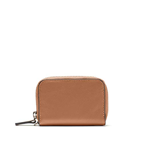 Key Fob Card Pouch - Full Grain Leather Leather - Cognac (brown)